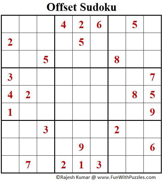 Offset Sudoku Puzzle (Fun With Sudoku #391)