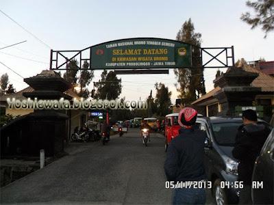 Selamat datang di kawasan wisata Bromo