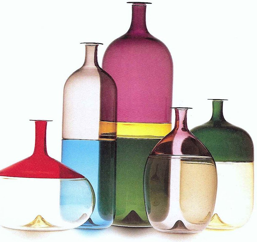 Bolle glass bottles 1960, photograph