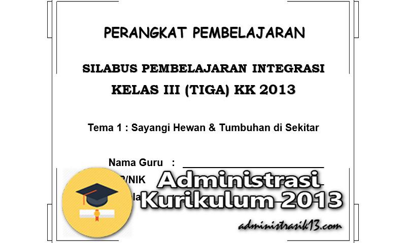 Perangkat Pembelajaran Kurikulum 2013 Sd Kelas 3 Edisi Revisi Administrasi Kurikulum 2013