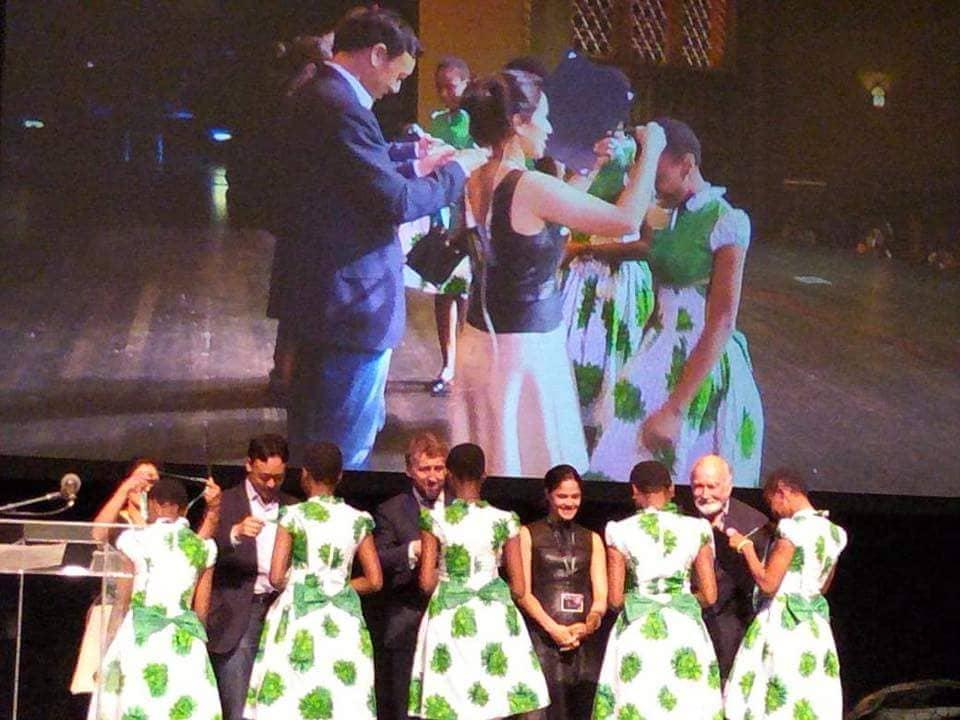 Nigerian schoolgirls win the 2018 Technovation World Pitch in California.