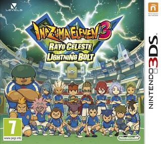 Inazuma Eleven 3: Rayo Celeste, 3DS,Español, Mega, Mediafire