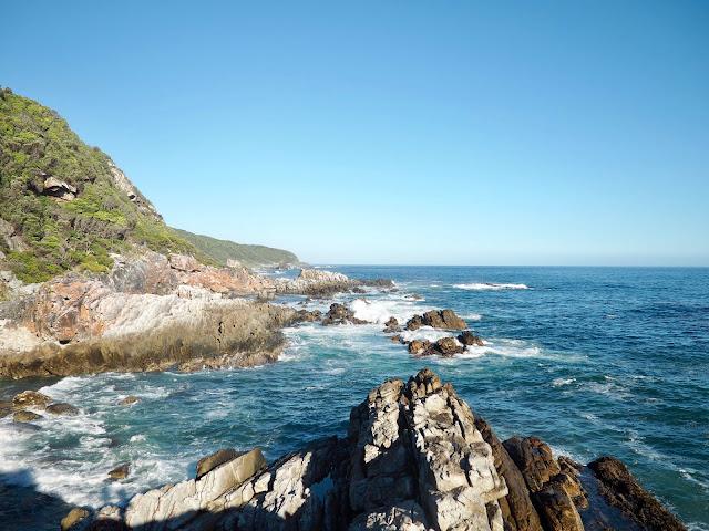 Coastal waterfall hike in Tsitsikamma National Park, Garden Route, South Africa