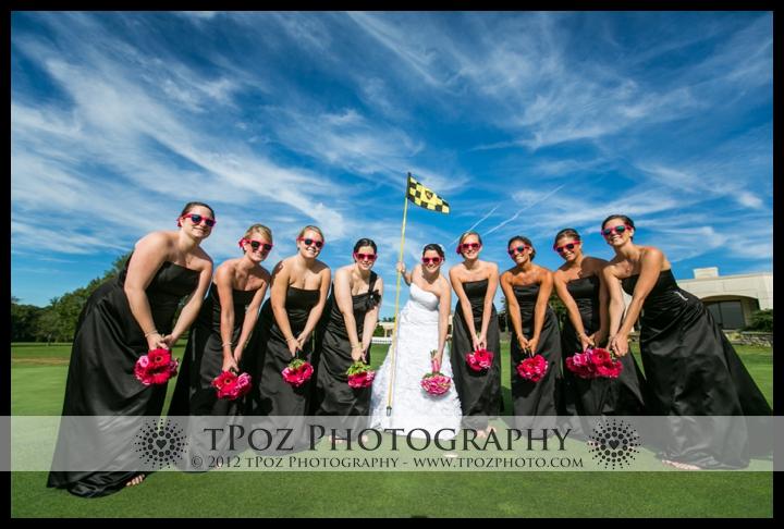Hillendale Golf Bridesmaids Wedding Photo