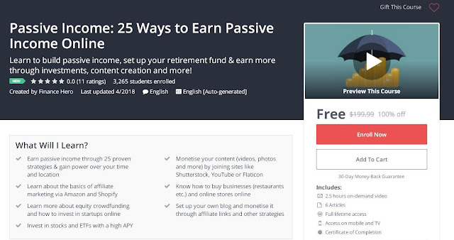 Passive Income: 25 Ways to Earn Passive Income Online