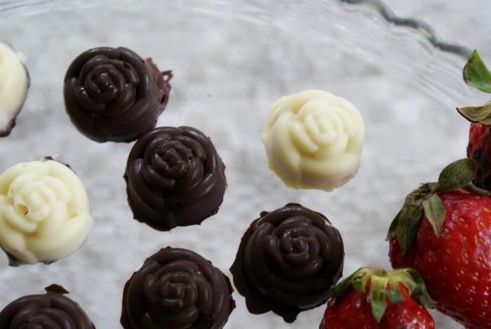 cioccolato cioccolatini rosa rose ricetta