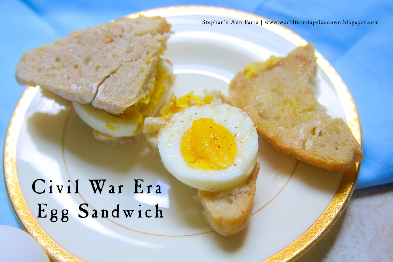 World turnd upside down civil war era egg sandwich a picnic recipe this recipe was cooked for the historical food fortnightly a yearly challenge that encourages bloggers to cook a historical food every two weeks forumfinder Images