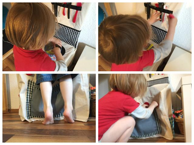 Ein alter Stuhl wird zur Spielküche! Dank der Stuhlküche wird jetzt im Kinderzimmer gekocht.