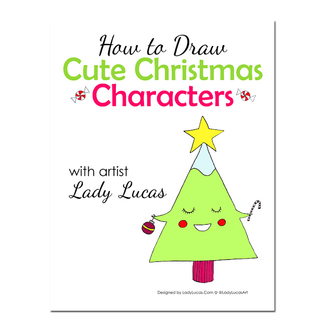 Day 7: How to Draw Cute Christmas Characters Giveaway | Linzer Lane Blog