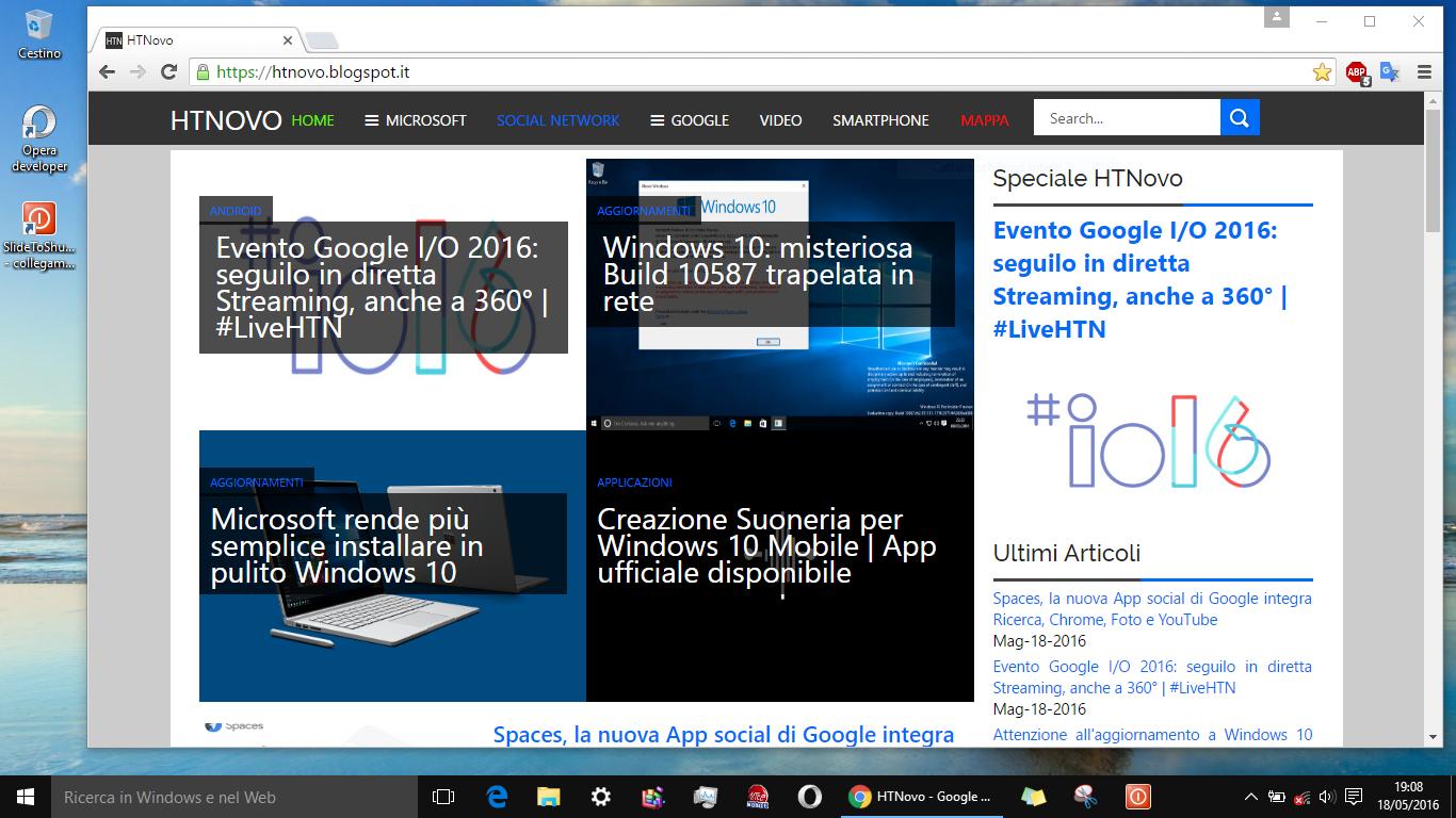 Come spegnere PC Windows 10 con un semplice Slide verso il basso HTN 3