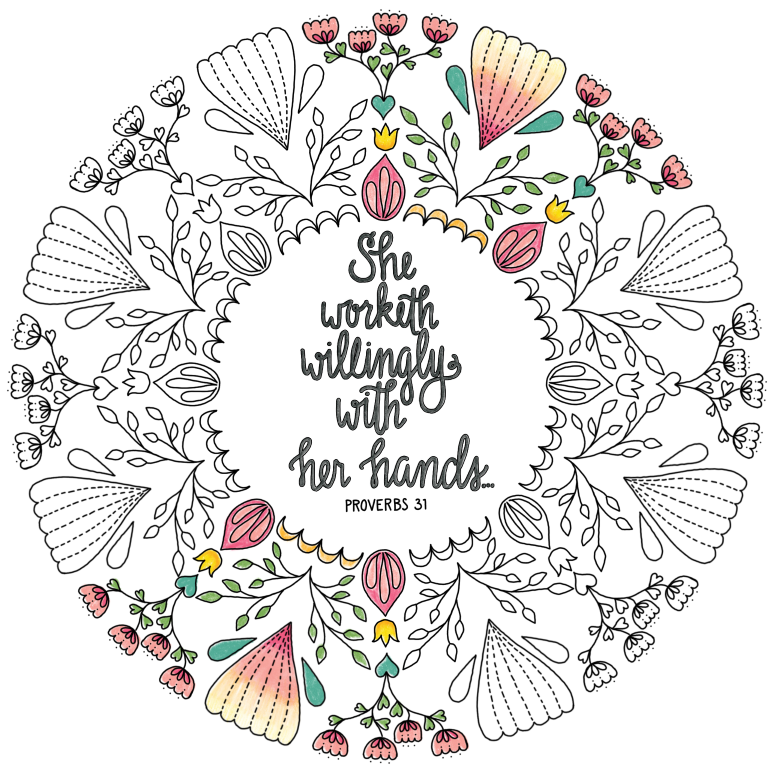 just what i {squeeze} in: Proverbs 31 - Coloring Page #23