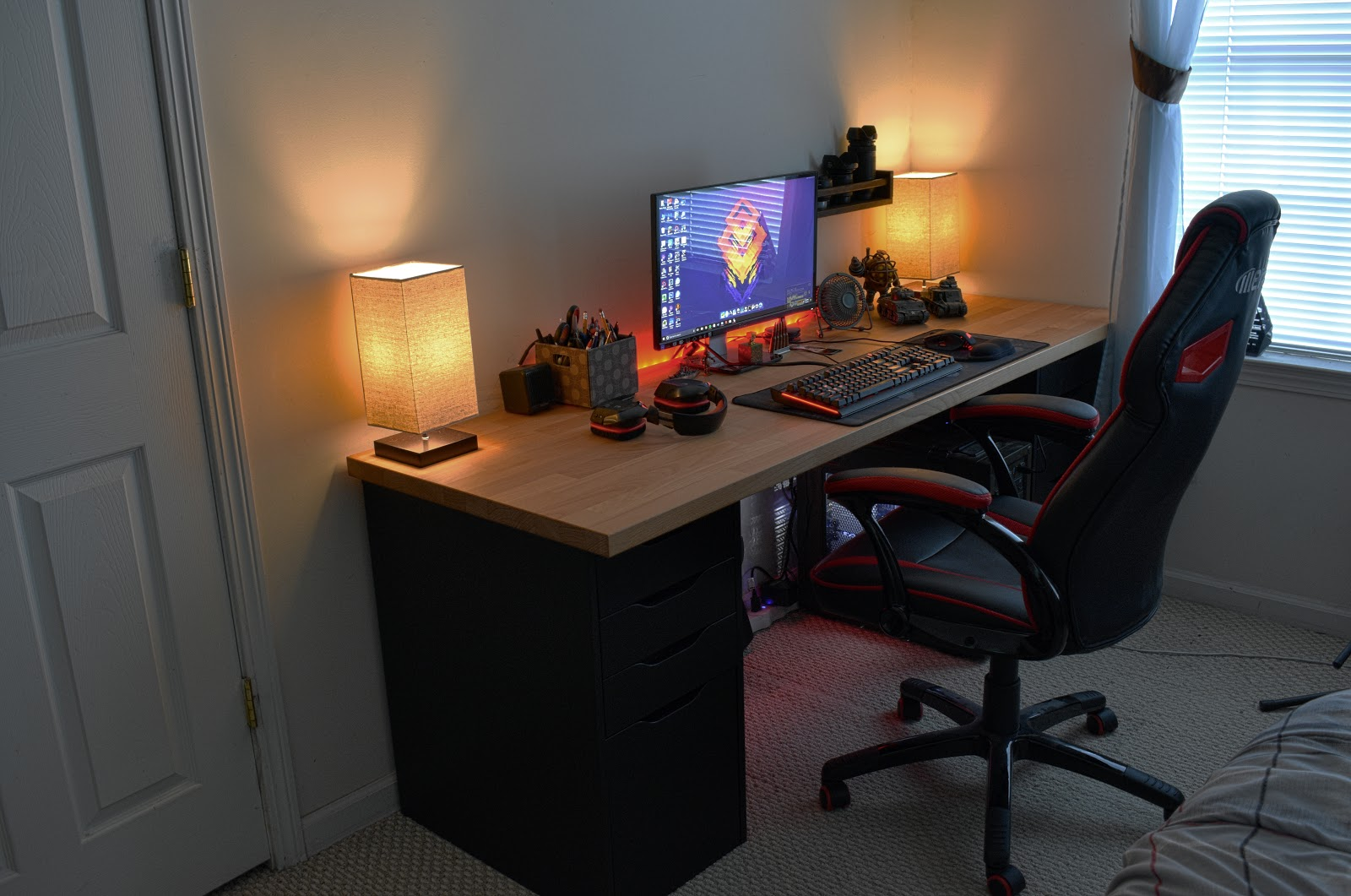 ikea computer desk dream build