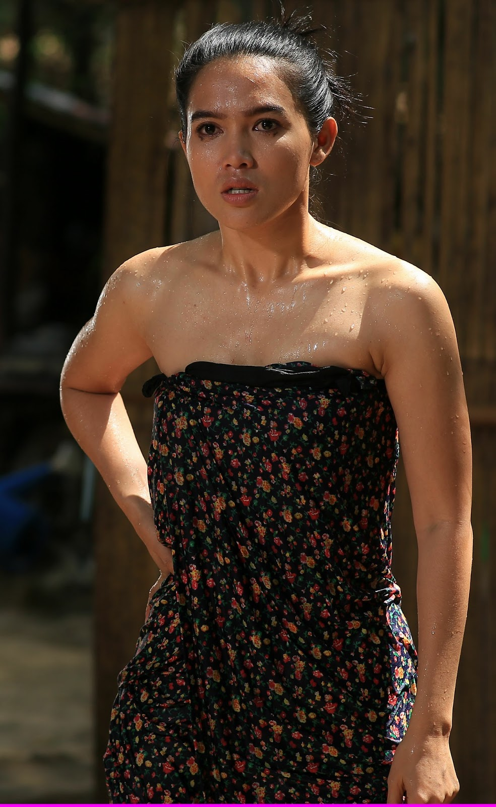 "Aye Myat Thu starring in new Myanmar movie "" Lann Paw Ka Mway Hout"" ."