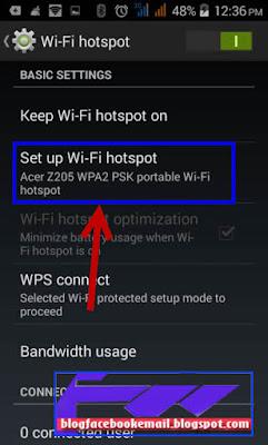 cara mengatur username dan password hotspot android