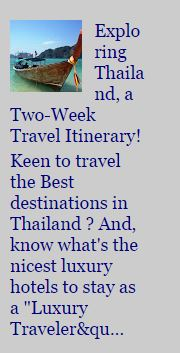 Thailand 2-week Travel Itinerary