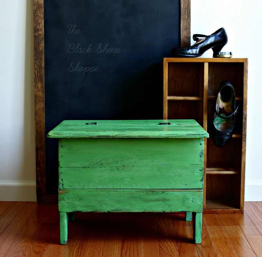 Antibes Green is a great color choice for vintage furniture.