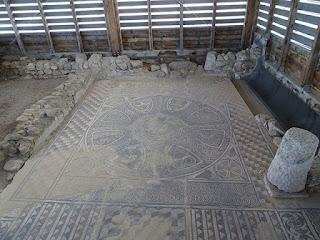 Emblema. Triclinium. Villa romana de Santa Cruz