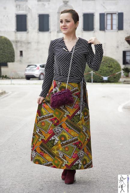 come indossare un abito a portafoglio