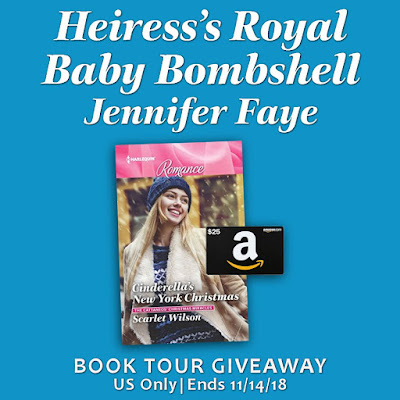Book Tour Giveaway graphic: Amazon GC and book (Cinderella's New York Christmas)