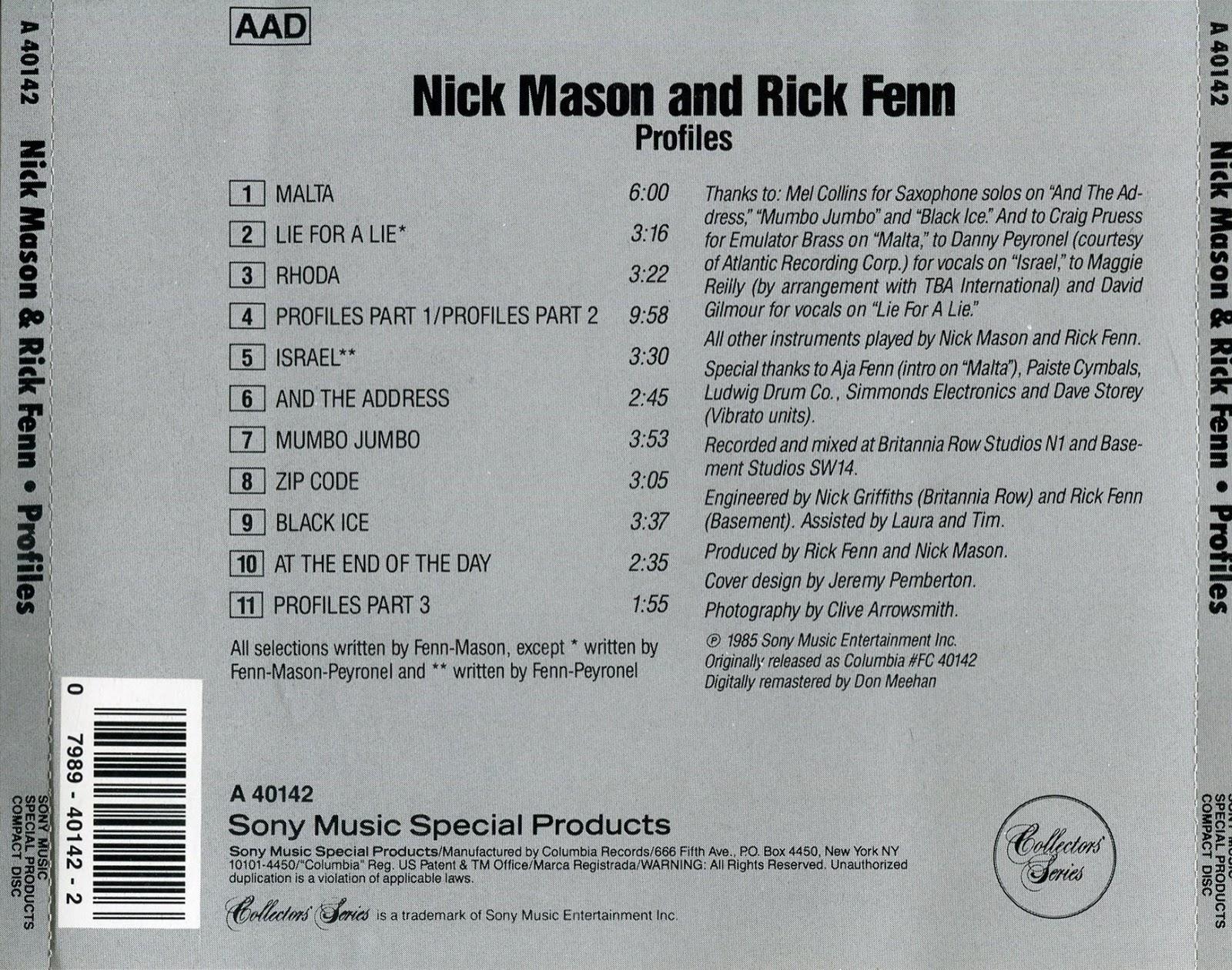 Pink Floyd Ilustrado Profiles Nick Mason Rick Fenn