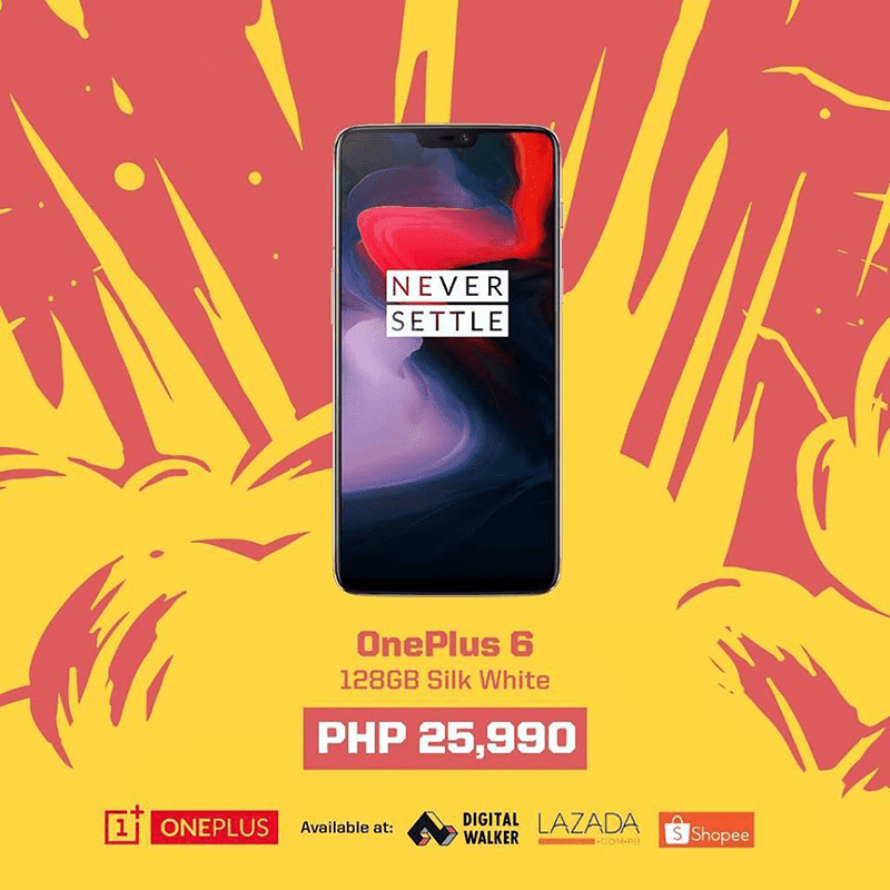 Sale Alert: OnePlus 6 with 8GB RAM/128GB ROM is down to just PHP 25,990!