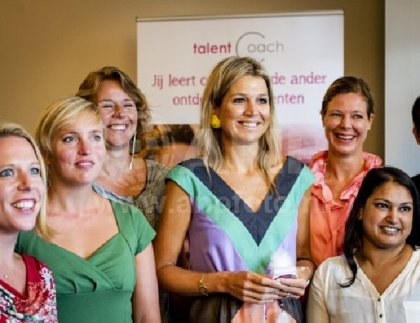 Queen Maxima of The Netherlands visits Oranje Fonds project Talentcoach in The Hague