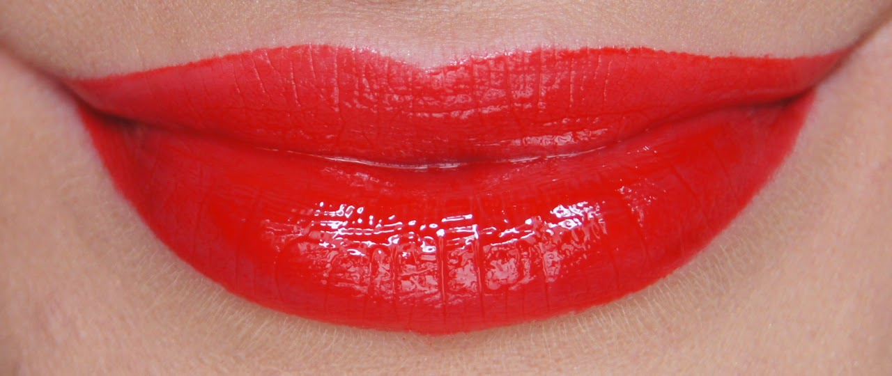 bourjois rouge edition aqua lacquer 05 red my lips swatch
