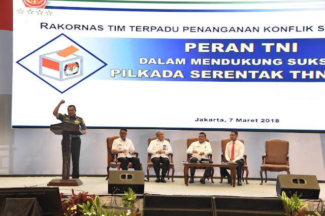 TNI Siap Dukung Suksesnya Pilkada Serentak 2018