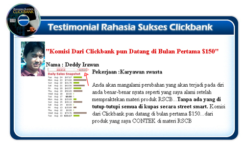 Testimoni Sukses Clickbank Gm Susanto