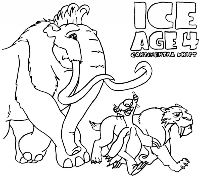 coloring pages for ice age best coloring pages