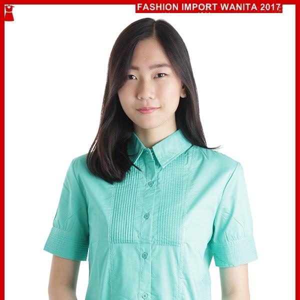 ADR193 Kemeja Hijau SSL Tangan Pendek Import BMGShop