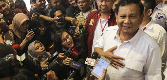 Ternyata Prabowo Belum Deklarasi Capres Khawatir Kriminalisasi