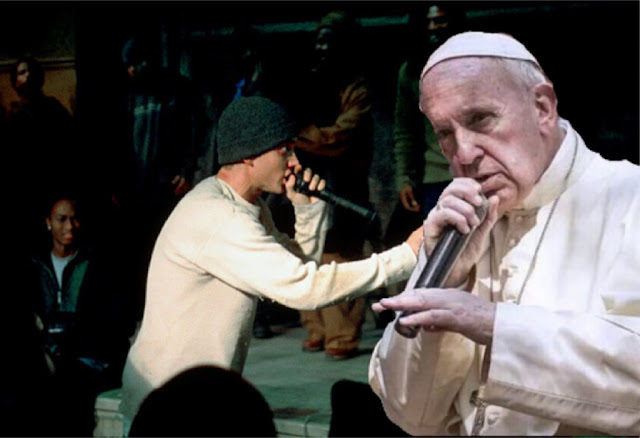 Funny Rapping Pope Joke Picture