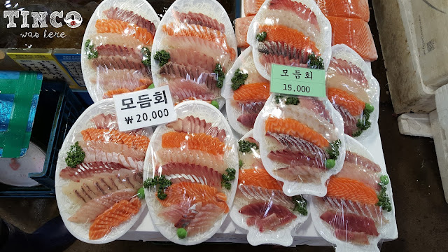 Tinco was here noryangjin fish market a place to eat for Can i eat fish everyday