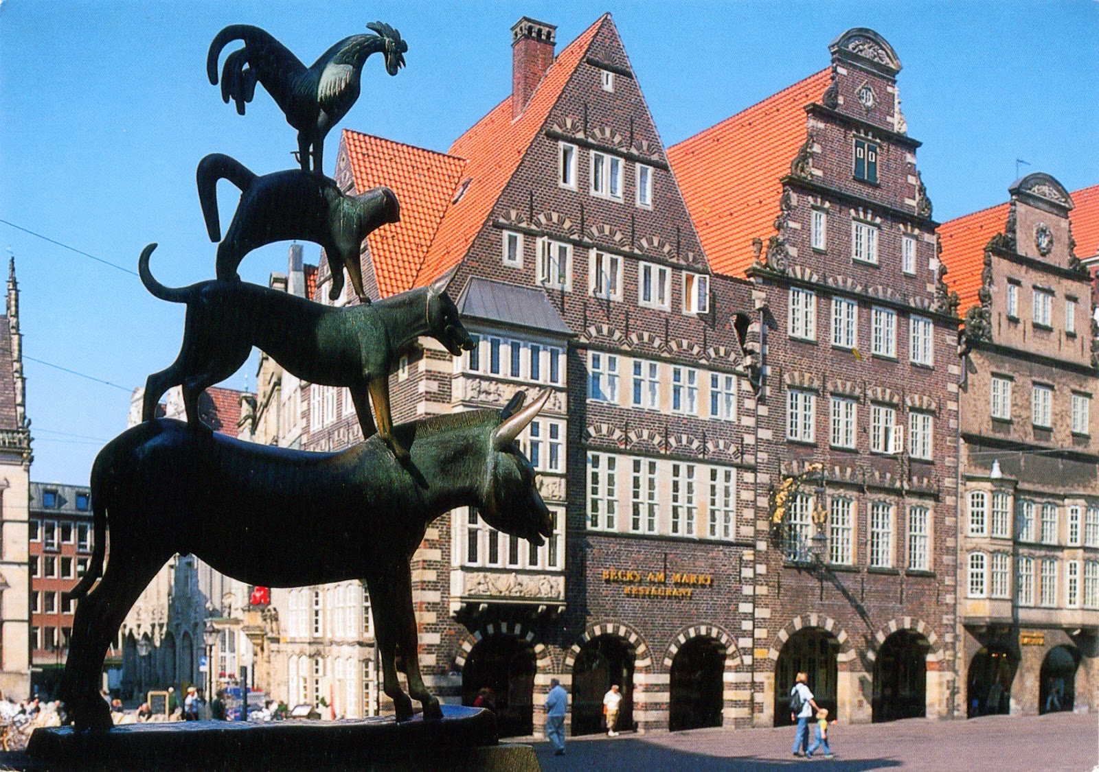 world come to my home 0915 germany bremen the statue of the town musicians. Black Bedroom Furniture Sets. Home Design Ideas