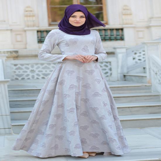 32 Trend Gamis Brokat Kombinasi Polos Terbaru Modis Elegan Dan Mewah
