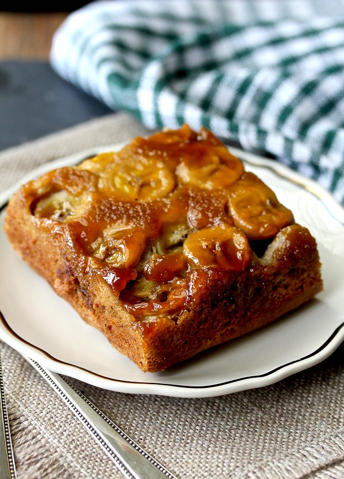 Banana Chocolate Chip Upside-Down Cake