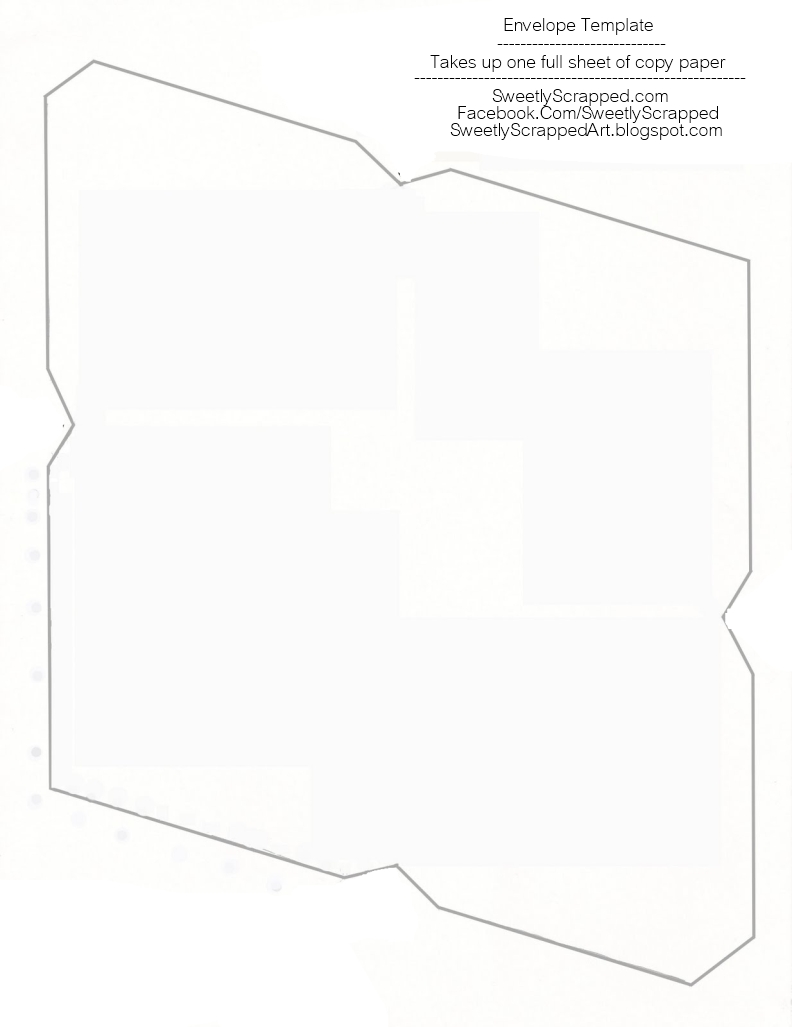 Sweetly scrapped free printable envelopes for 8 5 x 11 envelope template