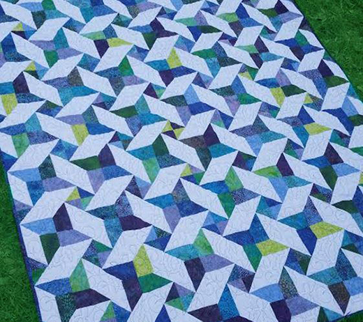 Joy's Star Jelly Roll Quilt Free Pattern