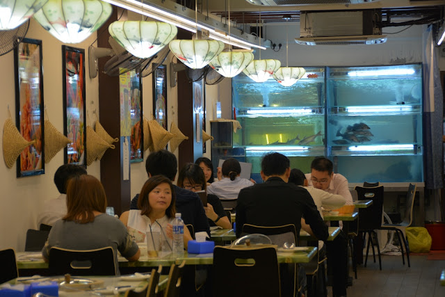Chinatown Singapore restaurant life fish