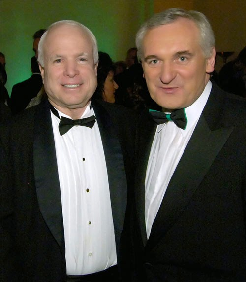 Mccain Family: McCain's Corner: John McCain And The Taoiseach