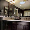 Bathroom Designs Dark Cabinets Elegant