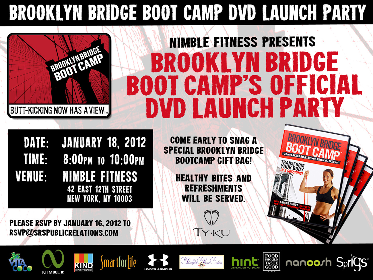 brooklyn bridge boot camp the brooklyn bridge boot camp dvd launch party is wednesday. Black Bedroom Furniture Sets. Home Design Ideas