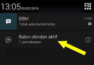 balon obrolan aktif fb