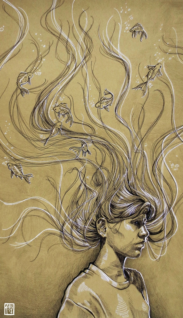03-Daydreams-Dayi-Fu-A-Friend-s-Emotions-Expressed-in-Drawings-www-designstack-co