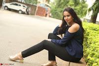 Poojita Super Cute Smile in Blue Top black Trousers at Darsakudu press meet ~ Celebrities Galleries 070.JPG