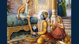 Krishna Made Sudama sit on his throne