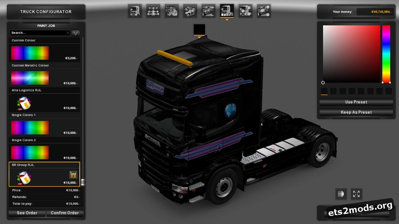 Scania RJL SR Group & Alta Logistics Skin