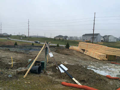 building Ryan Homes Milan lumber framing