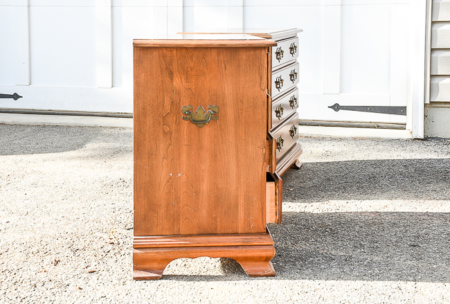 Dated multi drawer nightstands before